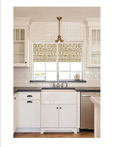 Faux Roman Shade Valance Custom Made in Metallic Gold for sale  Delivered anywhere in USA