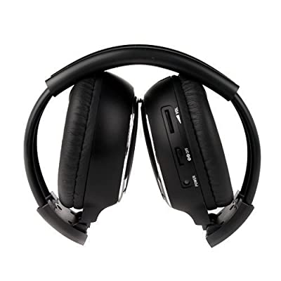 Sportsmax 2 Pack of Two Channel Folding Universal Rear Entertainment System Infrared Headphones Wireless IR DVD Player Head Phones for in Car TV Video Audio Listening: Home Audio & Theater