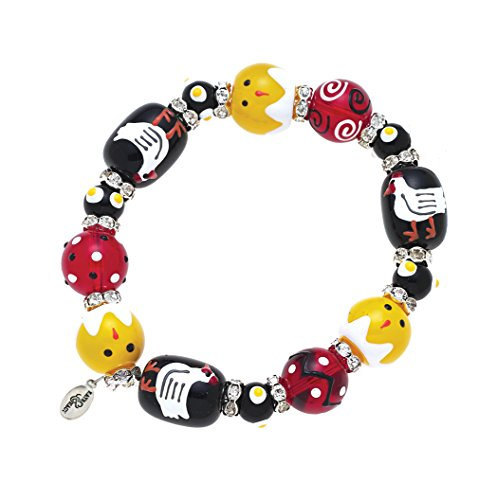 Clementine Design Kate & Macy Chickens N Chicks Bracelet Painted Glass Beads - N Macys