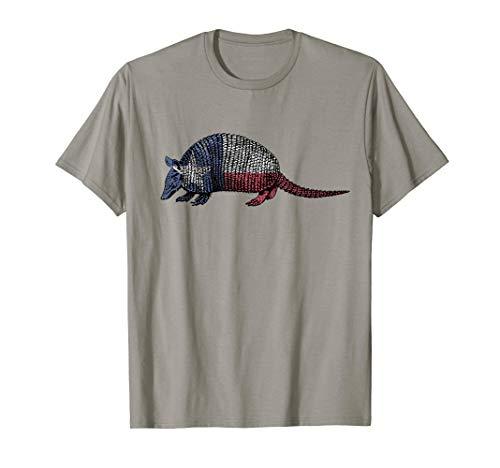 Texas Armadillo Cute Armour Shell Animal Pun Vintage T-Shirt ()