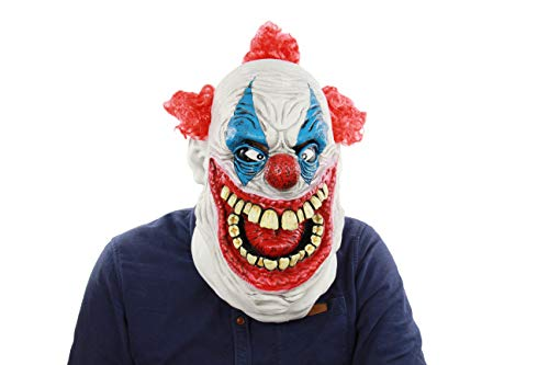 - The Deluxe and Scary Halloween Big Mouth Latex Clown Mask Cosplay Terror Head Mask
