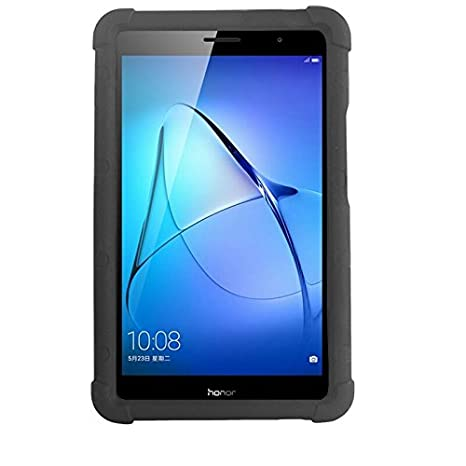 reputable site 9c209 05087 MingShore Huawei MediaPad T3 8 Silicone Rugged Case With Born Handstrap Fit  To Huawei T3 8.0 Inch Tablet Model KOB-L09 KOB-W09 8.0