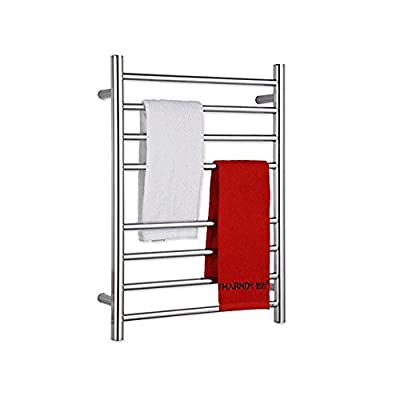 Sharndy Towel Warmers heated towel rail Square Bars ETW13 Towel Racks for Bathroom (Polish Chrome)