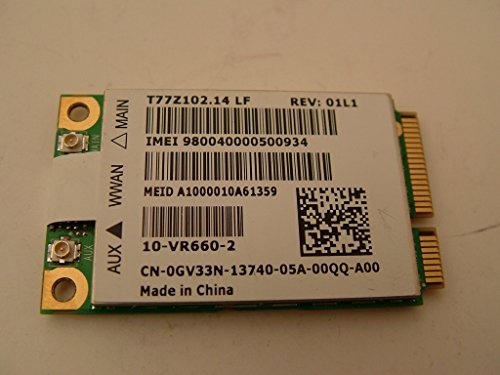 Dell GV33N WWAN Cellular Mobile Broadband 5620 Wireless Card Latitude XT2 XFR (Wireless Mobile Broadband)