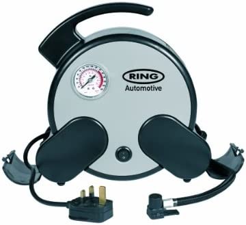 ring Automotive RAC750 230V Mains Powered rápido compresor de aire, incl. Bolsa de almacenamiento: Amazon.es: Coche y moto