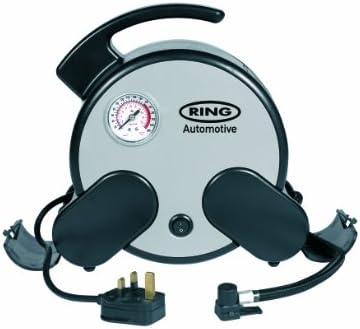 ring Automotive RAC750 230V Mains Powered rápido compresor de Aire, Incl. Bolsa de Almacenamiento