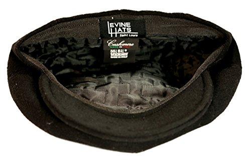 Levine Hat Cashmere 'Classico' 8-Panel newsboy Cap (XXLarge (Fits 7 3/4 To 7 7/8), Black) by Levine Hat (Image #5)