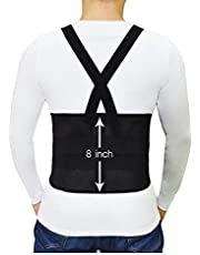 ISOP Elastic Back Support Work Belt – Waist Brace for Men and Women – Posture Corrector and Lumbar Support – Pain Relief Safety Belt – Breathable & Comfortable – Ideal for Gym, Work, Injury Prevention