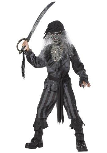 Pirate Ghost (Ghost Ship Pirate Boy's Costume, Medium, One Color)