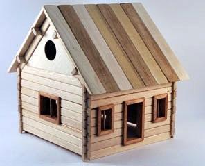 Haus 2 zum Selbstbau Holz Spielzeug Massiv selber bauen Kinder ...