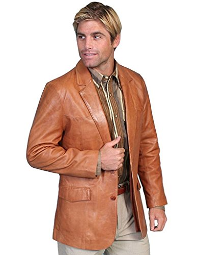 - Scully Western Blazer Mens Lambskin Button Back Vent 52 Long Tan 501-171