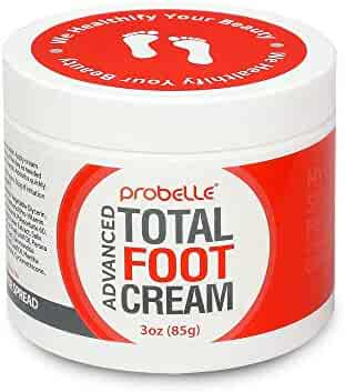 Probelle Advanced Total Foot Cream– Foot Cream for Dry Cracked Feet – Soothing, Rejuvenating Feet Moisturizer for Rough and Sore Feet – 3 Oz.