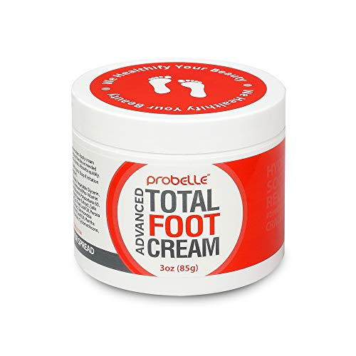 (Probelle Advanced Total Foot Cream- Foot Cream for Dry Cracked Feet - Soothing, Rejuvenating Feet Moisturizer for Rough and Sore Feet - 3 Oz.)