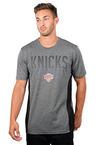 NBA New York Knicks Men's T-Shirt Athletic Quick Dry Active Tee Shirt, X-Large, Charcoal