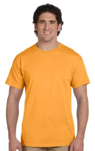 Gold T-shirt (Hanes Short Sleeve 50/50 T-Shirt - 5170, Large, Gold)