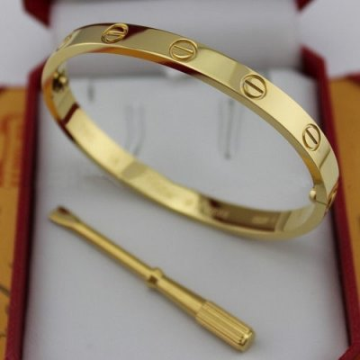 44bf70ccc217 Oficial Famoso imitación plata tornillo Cartier Love brazalete de ...