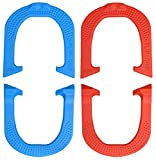 Flip-Grip Professional Pitching Horseshoes- Made in The USA! (Red & Blue- Two Pair Set (4 Shoes))