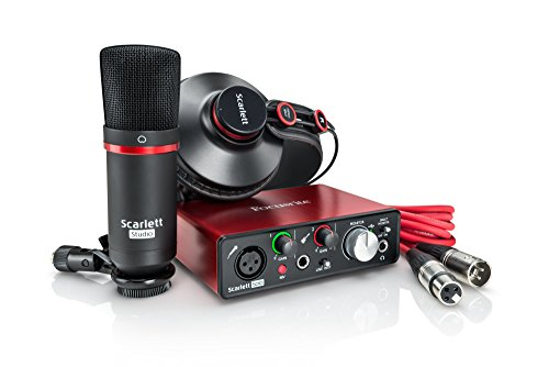Focusrite Scarlett Solo Studio (2nd Gen) USB Audio Interface and Recording Bundle with Pro Tools   First