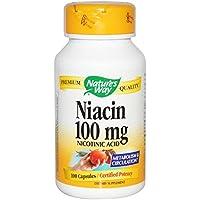 【国内発送】 Nature's Way ナイアシン Niacin 100mg 100カプセル [並行輸入品]