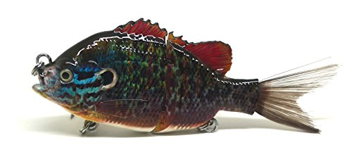 BlitzBite Largemouth Bass Pike Muskie Striper Fishing Lure Bait Swimbait Life-like Panfish Sunfish Bluegill Redbreast Pumpkinseed Bluegill (D)