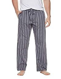 CYZ Men's 100% Cotton Poplin Pajama Lounge Sleep Pant-CharStripe-S