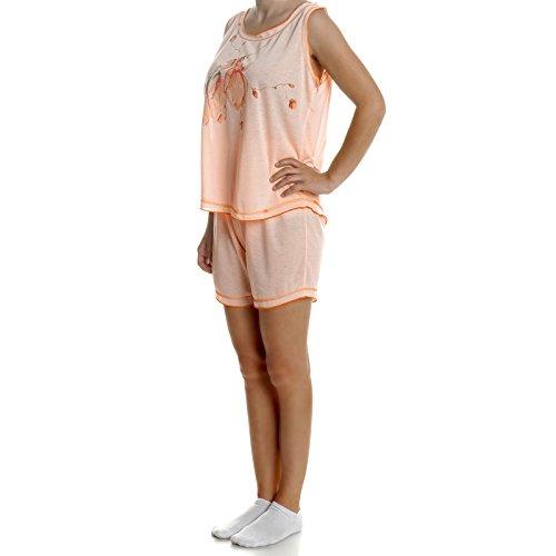 BEZLIT - Pijama - Cuello redondo - Sin mangas - para mujer naranja