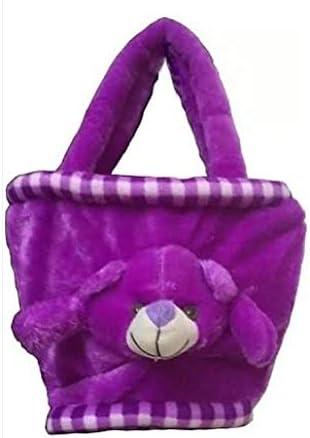 PRACHI TOYS Hand Bag Soft Toy Plush Kids Birthday Gift (Purple)