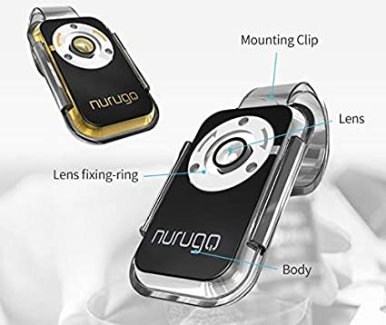 400X Magnification Including Brackets for iPhone Android /& iOS Share Media with The Nurugo Application Silver Silver Nurugo Micro Smartphone Microscope