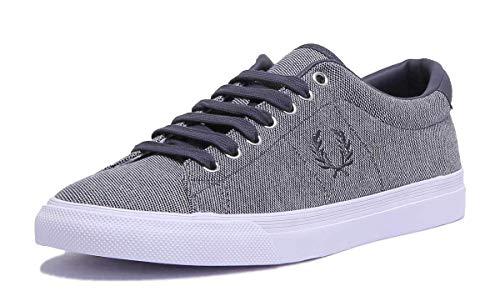 Underspin Pique Fred Perry c12 46 B3135 Bianco Blu Blu Sneakers E57qRUq