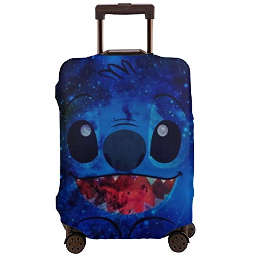 Anime Stitch Travel Luggage Cover Suitcase Protector Washable Baggage Luggage Covers Zipper Fits 29-32 Inch