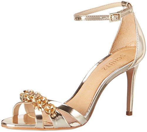 Schutz S0-20660097, Sandali con Cinturino alla Caviglia Donna Oro (Platina Platina)