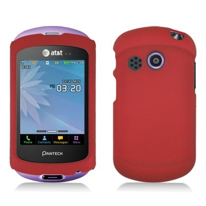Red Hard Case Proctor Cover For At&T Pantech Swift P6020