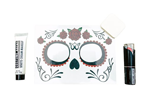 Day of the Dead Costume Makeup Cosmetic Kit ()