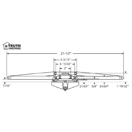 STB Sill Mounted Awning Window Operator, White, 21-1/2''