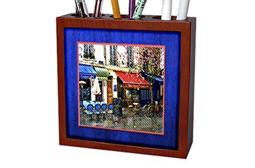 3dRose ph_14913_1 Paris Cafe Tile Pen Holder, 5