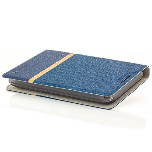 Funda ZTE Blade L5 Case [zanasta Designs] Cubierta Carcasa Flip Cover Tapa Delantera con Billetera para Tarjetas Protectora de Alta Calidad, Cierre Abatible Azul Azul