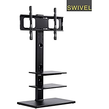 Home Cantilever Glass Tv Stand With Swivel Bracket