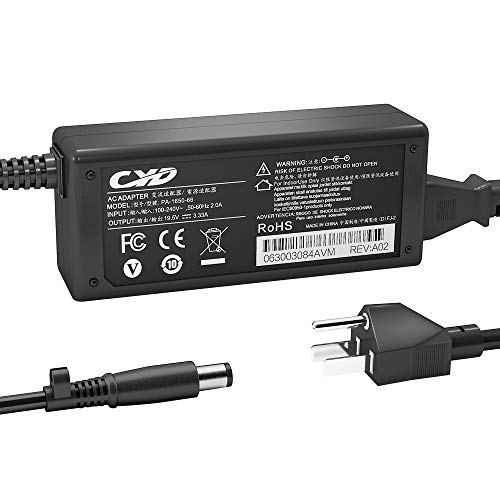 CYD 65W Powerfast Replacement for Laptop Charger HP N17908 HP 2000 Notebook Pc Charger 2000-2B09WM 2000-2A20NR 2000-2B19WM 2000-2D19WM 2000-2C29WM 2000-2D49WM Pavilion G4 G6 G7 Power Supply Cord