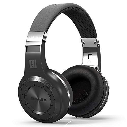 Bluedio H Plus (Turbine) Wireless Bluetooth Headphones V4.1 Bass Stereo Over-ear Headset with Mic FM Radio Support SD Card for iPhone Samsung (Black) ()