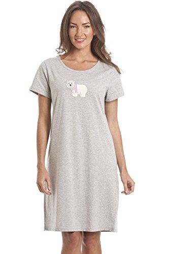 Camisón - Para mujer - Gris con oso polar GRIS