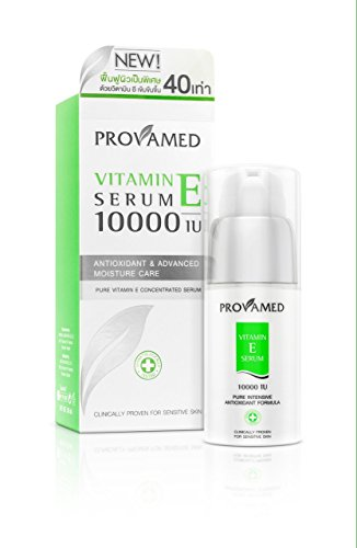 Provamed Vitamin E Serum 10000 IU, Anti-oxidant and Advanced Moisture Care 30 ml. Vitamin E 400 Iu Moisturizing Vitamins