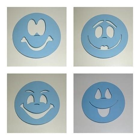 Plantillas para pintar caras de fofuchas para bolas de porex de 6 cm: Amazon.es: Hogar