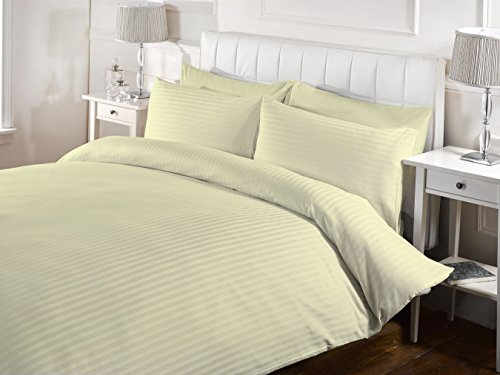 Bed Alter 3 Piece Striped Duvet Cover Set with Zipper & Corn