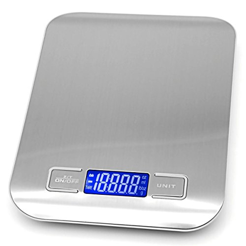 5kg 1g LCD Digital Scale Electronic Kitchen Weight Tool(WHITE) - 5