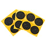Non-Slip Rubber Furniture Pads for Sofas, Chairs, Tables, Floor Lamps, Couches, Black Adhesive Grippers- haggiy Ø 1.38'' (12 Pieces)