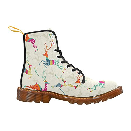 For InterestPrint InterestPrint Lace Boots Up Christmas reindee Print Men Christmas W8R1fF1