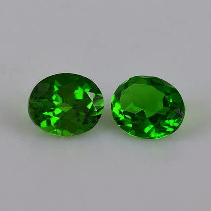 Natural AA quality Chrome Diopside 6x4mm oval faceted gemstone