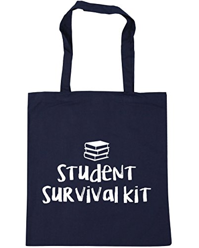 Tote litres Navy 42cm 10 Student Shopping Gym HippoWarehouse survival kit Bag French x38cm Beach Ot64x