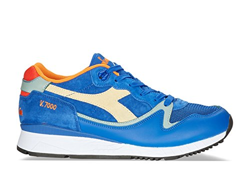 Diadora Men's Sneakers In Azure Leather and Fabric - Model Number: 501 172308 01 60051 V7000 Amaro Azure XZo6o