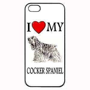 Custom Cocker Spaniel I Love My Dog Photo iPhone 4 4S Case Cover Hard Shell Back